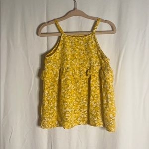 Old Navy yellow floral blouse EUC Size: 2T
